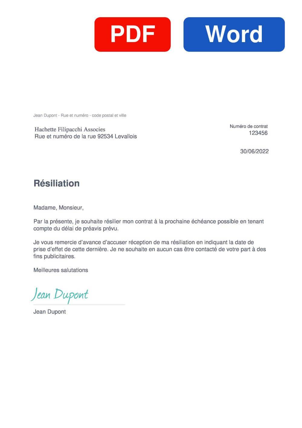 Piscou Modèle de lettre de résiliation
